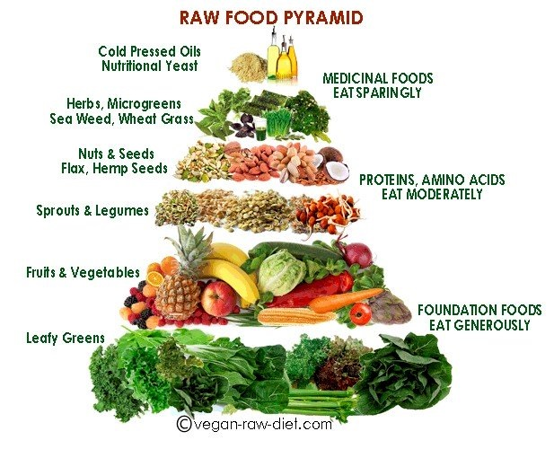 Thriving-Baby-Boomers - Nutrition - RAW Food Pyramid