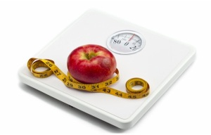 Thriving-Baby-Boomers - Weight Maintenance - Bathroom Scale, Apple & Measuring Tape