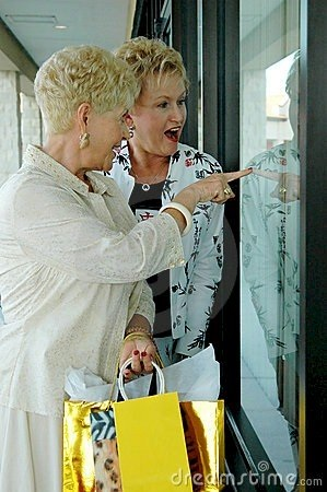 Thriving-Baby-Boomers - Casual Dating - Senior Ladies window shopping