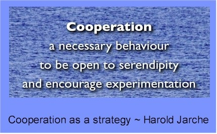 "Thriving-Baby-Boomers - Serious Dating - cooperation - ""Cooperation - a necessary behaviour to be open to serendipity and encourage experimentation."" ~ Harold Jarche"