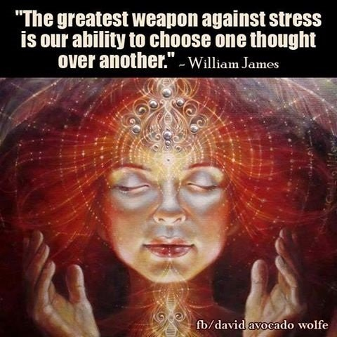 "Thriving-Baby-Boomers - Stress Management - ""The greatest weapon against stress is our ability to choose one thought over another."" ~ William James"