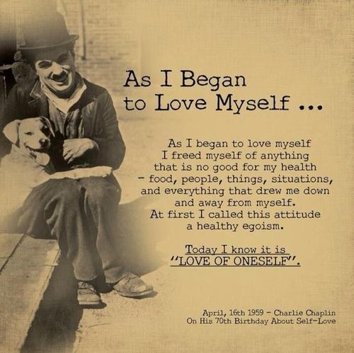 Thriving-Baby-Boomers - Body Image - Charlie Chaplain quote - As I Began to Love Myself