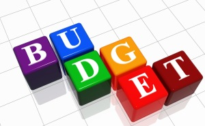 Thriving-Baby-Boomers - Budgeting - Colorful 3-D blocks spell BUDGET