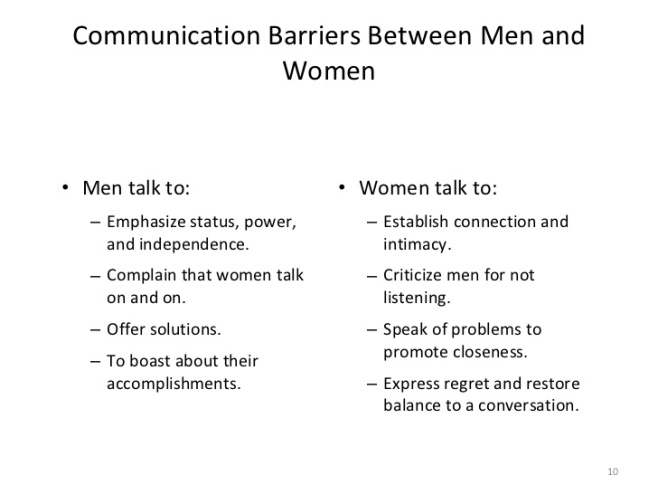 Thriving-Baby-Boomers - Communication Styles between Men and Women - Communication Barriers Between Men and Women
