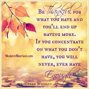 Thriving-Baby-Boomers - Gratitude - Thankful for - attract more - Oprah Quote